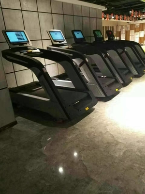 China As escadas rolantes da categoria comercial do fitness center com tela táctil 1.0~20.0km/H apressam-se distribuidor